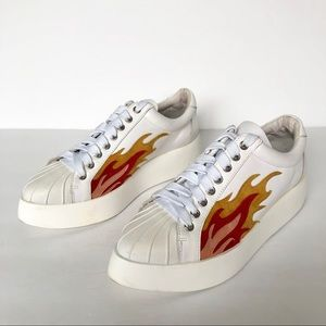 Jeffrey Campbell Hot Rod Pointed Toe Sneakers Sz 6